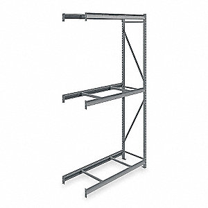 "Bulk Rack,Add-On,120"" H,60"" W,24"" D,Gray"