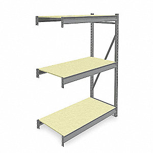 "Add-On Bulk Storage Rack with Particle Board Decking and 3 Shelves, 48""W x 24""D x 72""H"
