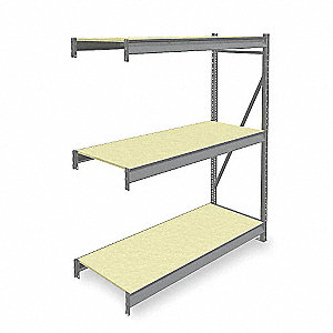 "Add-On Bulk Storage Rack with Particle Board Decking and 3 Shelves, 60""W x 24""D x 72""H"