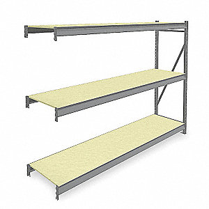 "Add-On Bulk Storage Rack with Particle Board Decking and 3 Shelves, 96""W x 24""D x 72""H"
