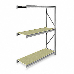 "Add-On Bulk Storage Rack with Particle Board Decking and 3 Shelves, 72""W x 24""D x 96""H"