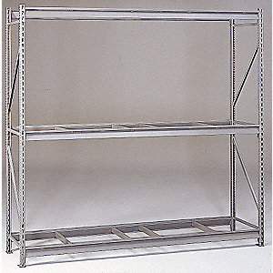 "Starter Bulk Storage Rack with None Decking and 3 Shelves, 96""W x 36""D x 120""H"