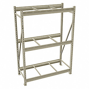"Starter Bulk Storage Rack with None Decking and 3 Shelves, 48""W x 24""D x 72""H"