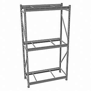 "Starter Bulk Storage Rack with None Decking and 3 Shelves, 48""W x 24""D x 96""H"
