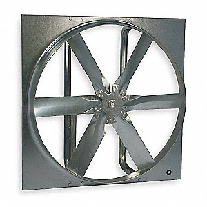 "24"" Standard Duty Exhaust Fan with Motor and Drive Package, 3 Phase, Unassembled"