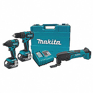 Brushless Cordless Combo Kit, Voltage 18.0 Li-Ion