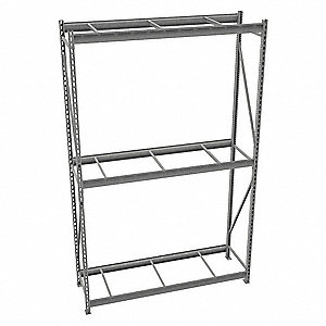 "Starter Bulk Storage Rack with None Decking and 3 Shelves, 72""W x 24""D x 120""H"