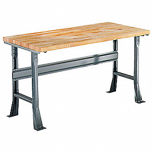 "Workbench, Butcher Block, 30"" Depth, 34"" Height, 72"" Width, 6000 lb. Load Capacity"