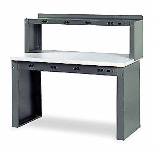 "Workbench, 72"" Width, 36"" Depth  Laminate Work Surface Material"