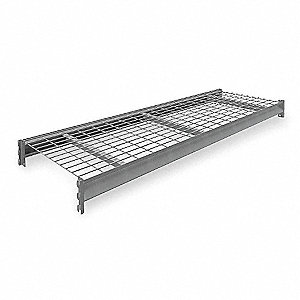 "72"" x 24"" Additional Shelf Level, Medium Gray&#x3b; For Use With Heavy Duty Bulk Storage Rack"