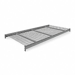 "96"" x 48"" Additional Shelf Level, Medium Gray&#x3b; For Use With Heavy Duty Bulk Storage Rack"