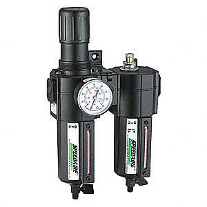 "3/8"" NPT Filter/Regulator/Lubricator with 5 to 150 psi Adjustment Range"