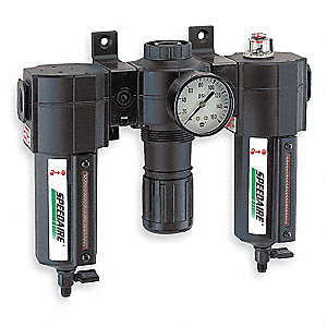 "10.52"" x 8.81"" Filter/Regulator/Lubricator with 5 to 150 psi Adjustment Range"