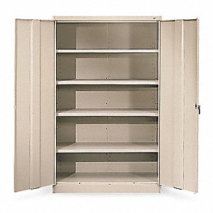 "Storage Cabinet, Sand, 78"" Overall Height"