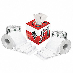 2 Ply Standard Toilet Paper & Disposable Wipes, 1EA