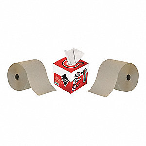 800 ft. 1-Ply High Capacity Paper Towel Roll & Disposable Wipes, Brown&#x3b; PK1
