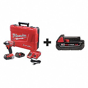 "1/4"" Hex Cordless Impact Driver Kit , 18.0 Voltage, 1600 in.lb. Max. Torque, Battery Included"