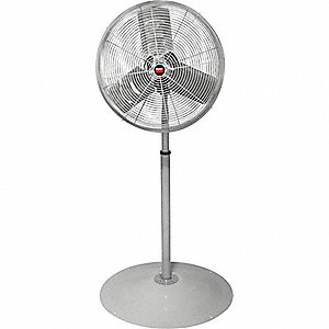 "30"" Industrial Pedestal-Mounted Non-Oscillating Air Circulator"