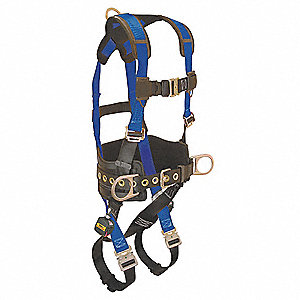 Full Body Harness with 425 lb. Weight Capacity, Blue/Black, XL