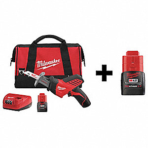 Cordless Recip Saw Kit,12V,W/Add Bat