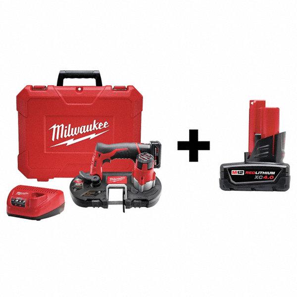 Milwaukee Cordless Band Saw Kit 12v W Add Bat 7df52