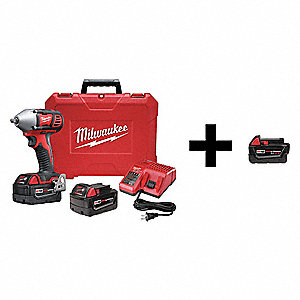 "3/8"" Cordless Impact Wrench Kit, 18.0 Voltage, 167 ft.-lb. Max. Torque, Battery Included"