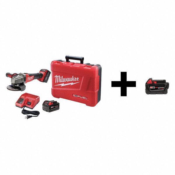 Milwaukee 5 M18 Fuel Cordless Angle Grinder Kit 18 0