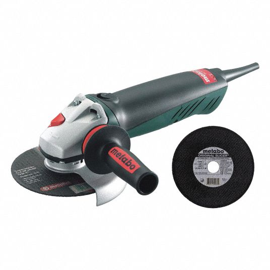 Metabo Angle Grinder With Cut Off Wheel 6 In Wheel Dia 12 Amps 120 8000 No Load Rpm Trigger Switch 7dj56 We14 150 Quick 655339000 Grainger