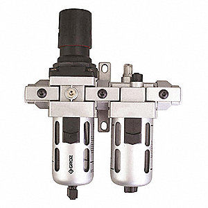 "1/4"" NPT Filter/Regulator/Lubricator with 7 to 145 psi Adjustment Range"