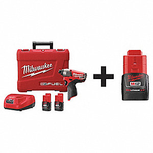 Cordless Impact Driver Kit, 12.0 Voltage, Battery Included