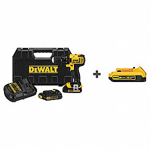"20V MAX Compact Li-Ion 1/2"" Cordless Drill/Driver Kit, Battery Included"