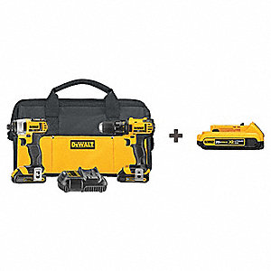 20V MAX® Cordless Combination Kit, 20.0 Voltage, Number of Tools 2
