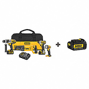 20V MAX® Cordless Combination Kit, 20.0 Voltage, Number of Tools 4