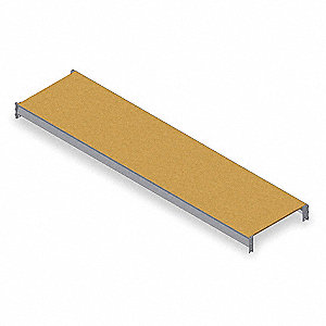 "Shelf,48"" D,72"" W,Particle Board Decking"