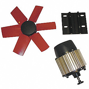 "12""-Dia. 1-Phase Corrosion Resistant Exhaust Fan Kit, 1660 Motor RPM"
