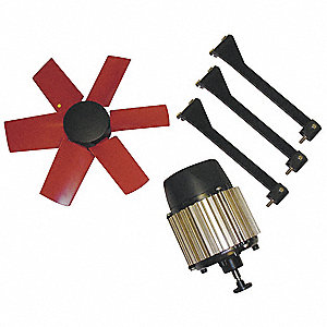 Corrosion Resistant Exhaust Fan Kit, 3 Phase, 460V, 60 Hz