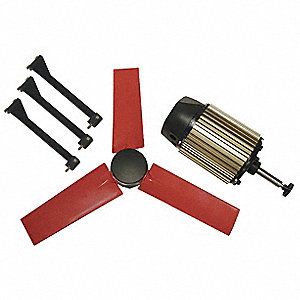 "22""-Dia. 3-Phase Corrosion Resistant Exhaust Fan Kit, 1580 Motor RPM"