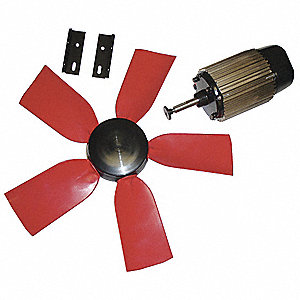 "22"" Corrosion Resistant Exhaust Fan Kit, Number of Blades 3, 1 Phase, Motor RPM 1050"