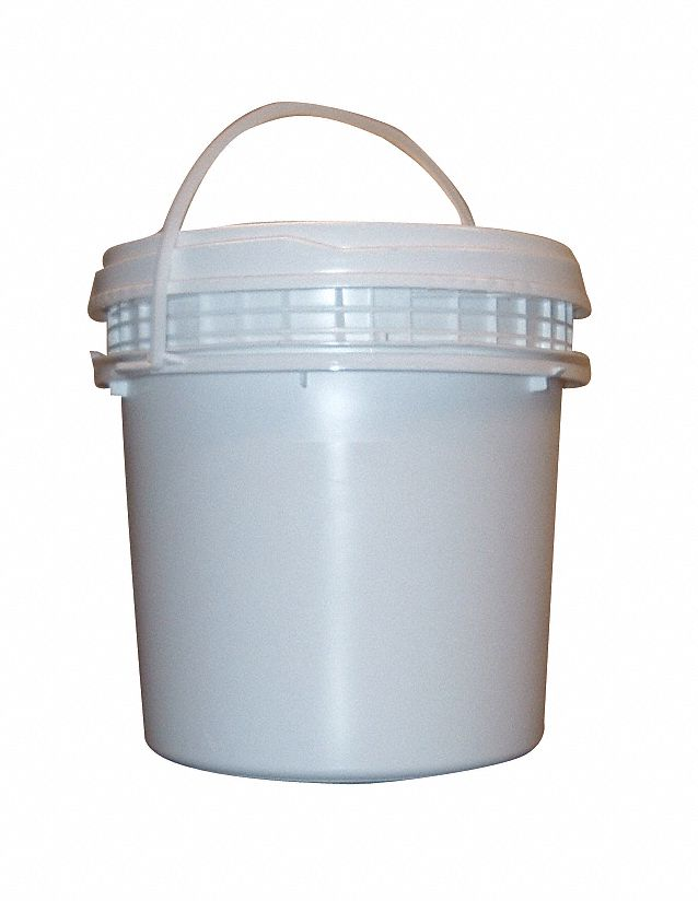 1.2 gal High Density Polyethylene Round Pail, White
