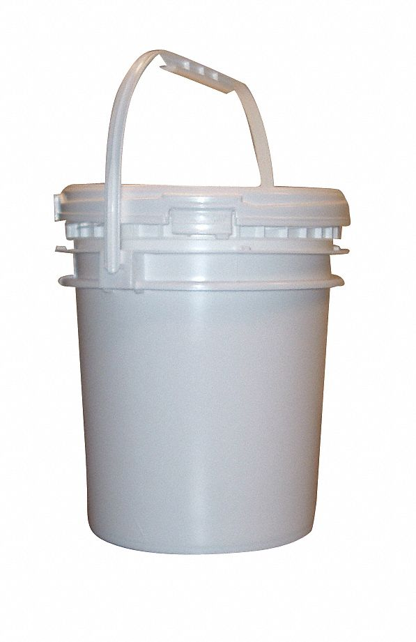 2.5 gal High Density Polyethylene Round Pail, White