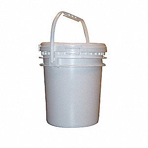 Pail,Screw Top,Round,2.5 gal,HDPE,White