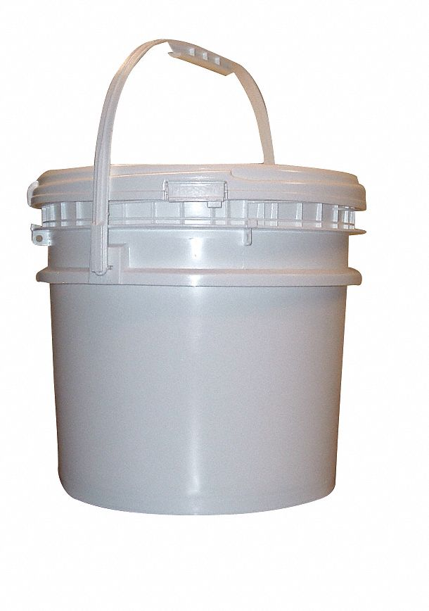 3.5 gal High Density Polyethylene Round Pail, White