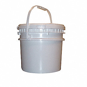 Pail,Screw Top,Round,3.5 gal,HDPE,White