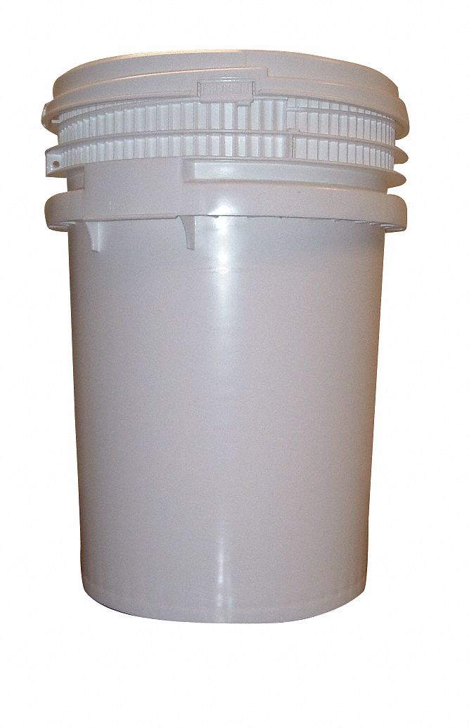 10.0 gal High Density Polyethylene Round Pail, White