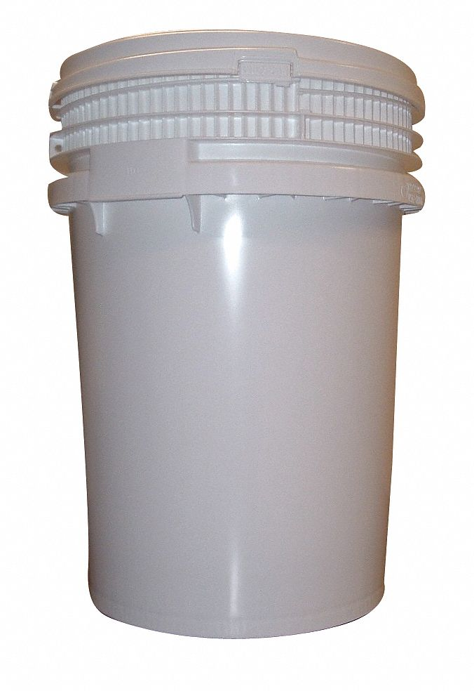 12.0 gal High Density Polyethylene Round Pail, White