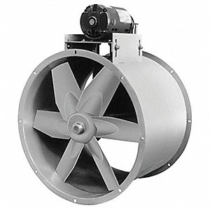 "24"" Capacitor Start Tubeaxial Fan with Motor and Drive Package, 115/208-230V, 1062 Fan RPM"