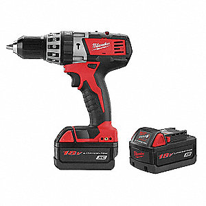 Cordless Hammer Drill Kit, 18.0 Voltage, Battery Included