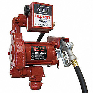 1/3 HP Steel Manual Fuel Transfer Pump, 20 GPM, 115VAC