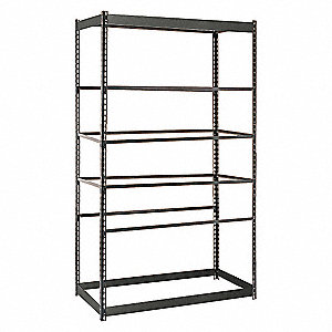 "Starter Boltless Shelving with None Decking, 6 Shelves, 48""W x 24""D x 84""H"