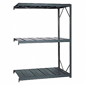 "Add-On Bulk Storage Rack with Ribbed Steel Decking and 4 Shelves, 60""W x 48""D x 72""H"
